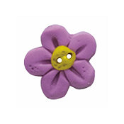 Button - Fuchsia Flower Head, Medium MAIN