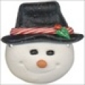 photo of SB427 snowman with top hat button