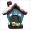 Button - Winter Birdhouse, Large