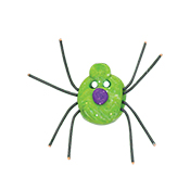 Button - Green Spider THUMBNAIL