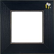 Button Frame - Bee 4x4 Black