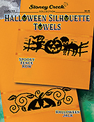 Leaflet 504 Halloween Silhouette Towels THUMBNAIL