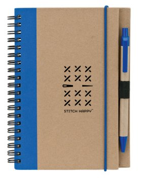 Stitch Happy Eco Journal - Blue MAIN