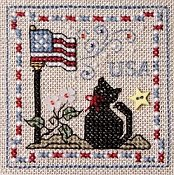 The Sweetheart Tree - Tweenie Tweenie 187 Itty Bitty Patriotic Kitty