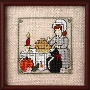 picture of The Sweetheart Tree - Teenie Tweenie 198 Itty Bitty Kitty cross stitch pattern with embellishments