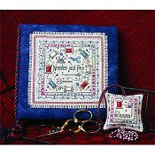 The Sweetheart Tree - Needles & Pins - A Stitcher's Needlebook & Fob Set_THUMBNAIL