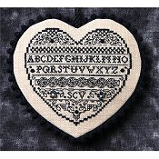 The Sweetheart Tree - Teenie Tweenie 204 Blackwork Heart
