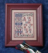 picture of The Sweetheart Tree - The Patriotic Heart Trio Sampler cross stitch