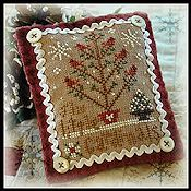 Little House Needleworks - 2012 Ornament #6 - Six Little Cardinals THUMBNAIL