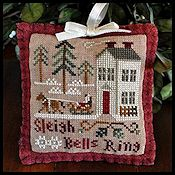 Little House Needleworks - 2012 Ornament #4 - Sleigh Bells Ring