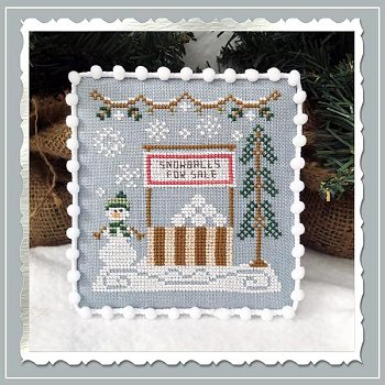 Country Cottage Needleworks - Snow Village 8 - Snowball Stand MAIN