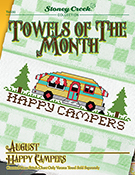 Towels of the Month - August Happy Campers THUMBNAIL