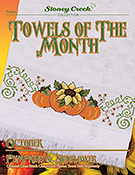 Towels of the Month - October Pumpkins & Sunflowers THUMBNAIL