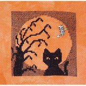 Handblessings - Halloween Silhouette 2014 - Cat In The Moon