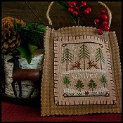 Little House Needleworks - 2011 Ornament #11 - Winter Forest THUMBNAIL
