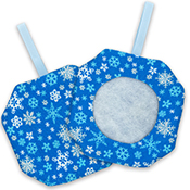 Octagonal Prefinished Christmas Ornament - Blue Print THUMBNAIL