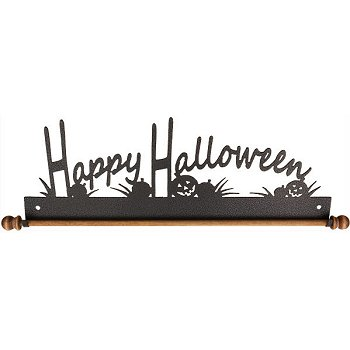 "Fabric Holder - 12"" Happy Halloween (Charcoal) MAIN"