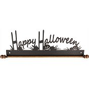 "Fabric Holder - 12"" Happy Halloween (Charcoal)"