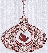 Alessandra Adelaide Needleworks - Dove Ornament THUMBNAIL