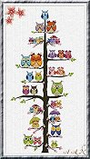 Alessandra Adelaide Needleworks - Owl Family Tree