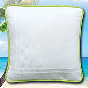 Prefinished Pillow - 18ct Anne Cloth - Tropical Spirit THUMBNAIL
