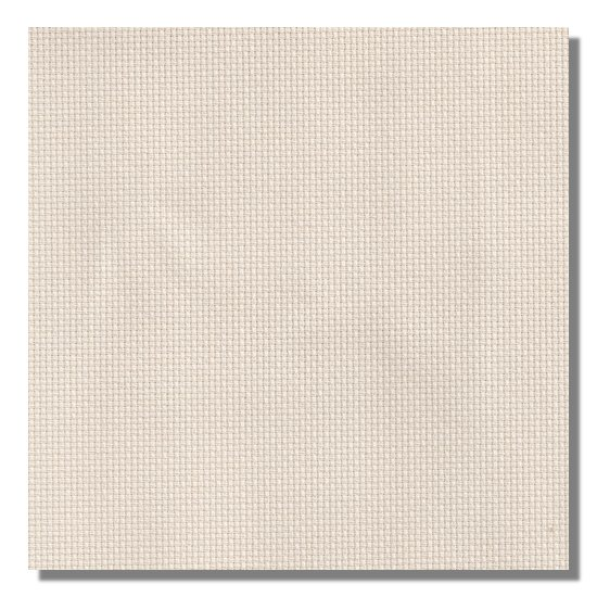Color swatch of 11ct ivory Aida cross stitch fabric