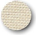 Color swatch of 16ct ivory Aida cross stitch fabric