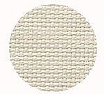 Color swatch of 16ct white chocolate Aida cross stitch fabric