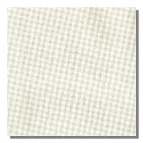 Color swatch of 11ct antique white Aida cross stitch fabric