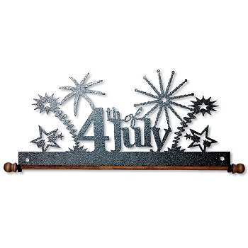 "Fabric Holder - 12"" 4th of July (Charcoal)"