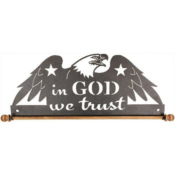 "Fabric Holder - 12"" In God We Trust (Charcoal) MAIN"