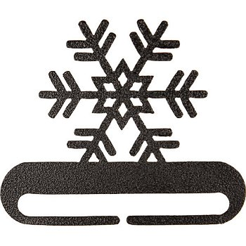 "Fabric Holder - 12"" Snowflake (Charcoal)"