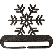 "Fabric Holder - 6"" Snowflake (Charcoal)"