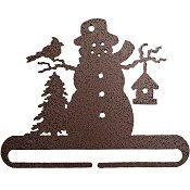 "Fabric Holder - 6"" Frosty Snowman (Copper)"