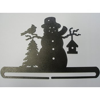 "Fabric Holder - 12"" Frosty Snowman (Charcoal)"