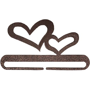 "Fabric Holder - 6"" Double Heart (Copper)"