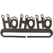 "Fabric Holder - 9"" Ho Ho Ho Split Bottom"
