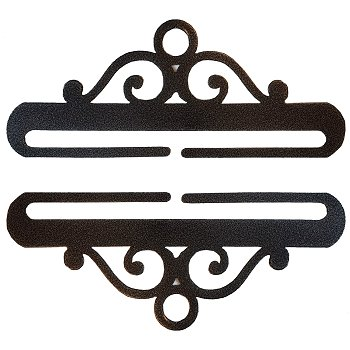 "Bellpull - 7.5"" Black Wrought Iron - Sub w/ AM35252-Pair"