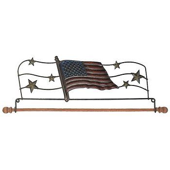 "Fabric Holder - 12"" American Flag"