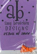 Amy Bruecken Designs - Stack of Snow Embellishment Pack