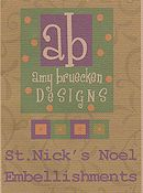 Amy Bruecken Designs - St. Nick's Noel Embellishment Pack