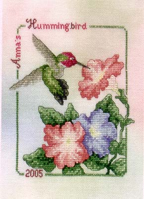 Crossed Wing Collection - Commemorative Hummingbirds of the World 2005 - Anna's Hummingbird THUMBNAIL