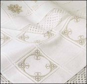 Anne Cloth 18ct White Afghan 7 sq x 9 sq - Cotton