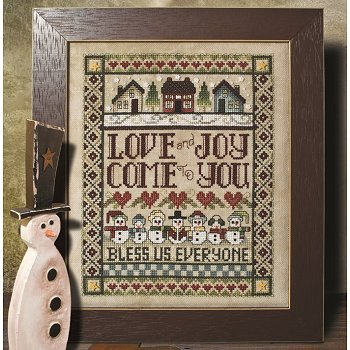 Custom Frame - Love & Joy Snowmen