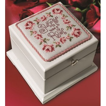 White Hinged Wood Box