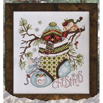 Custom Frame - Cardinal in Stocking THUMBNAIL