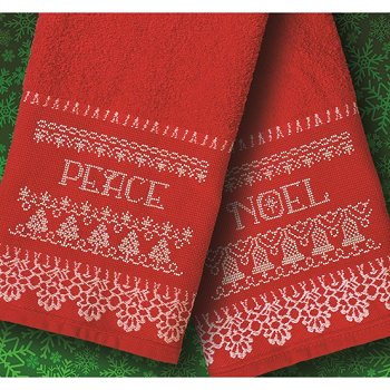 Veneza Hand Towels - Red