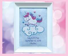 Unicorn Birth Sampler