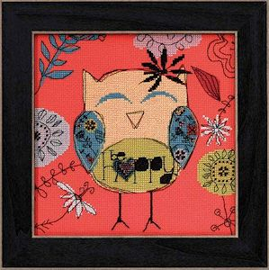 AmyLee Weeks by Mill Hill - Owl Series - Bee Happy MAIN
