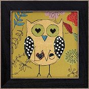 AmyLee Weeks by Mill Hill - Owl Series - Love THUMBNAIL
